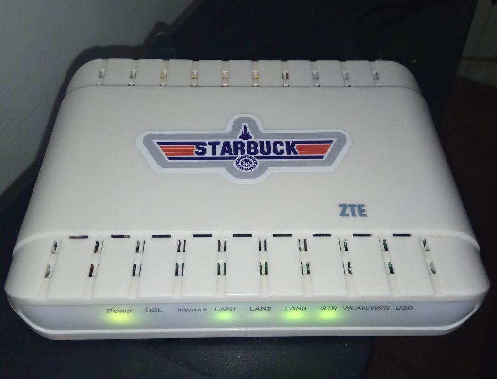 """ZTE H108NS """"Starbuck"""" edition"""